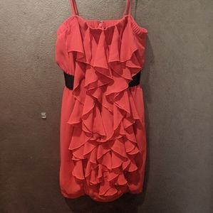 Ruffled Red Dress